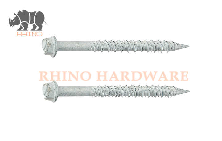 Slotted Hex Head Concrete Screw Hi-Low Thread