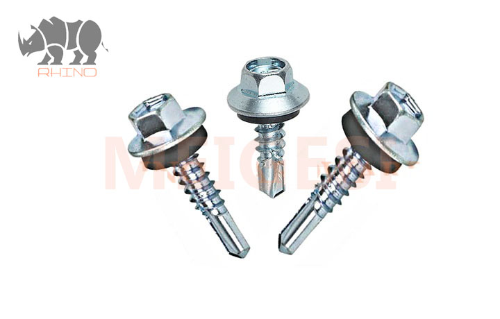 Hex Flange Head Self Drilling Screw with EPDM Sealing Washer